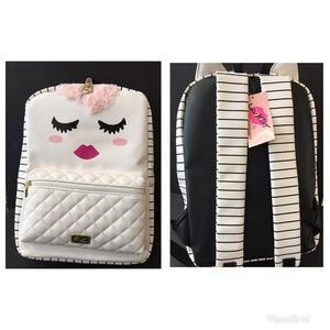 New luv betsey apollo unicorn Large backpack